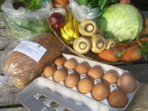 December Winter Share delivery with eggs and Sheril's Bread share option.