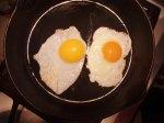 Duck egg, left- chicken egg, right.